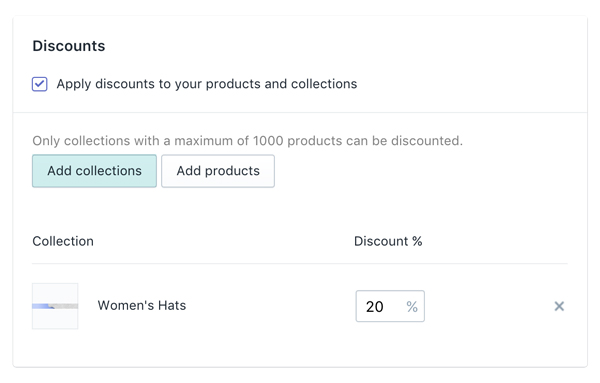 Bulk Discounting by Collection